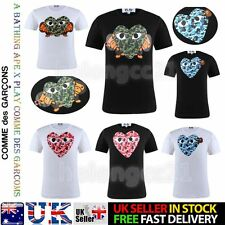 Unisex Comme Des Garcons CDG PlAY Newest A Bathing Ape  Short Sleeve T-shirts