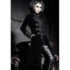 Punk Rave Royal Black Trench Coat [Special Order] - Gothic,Goth,Black,Jacket,Coa