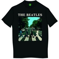 The Beatles 'Abbey Road & Logo' T-Shirt - LICENSED OFFICIAL BEATLES MERCHANDISE