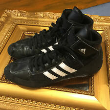 ADIDAS BLACK WHITE WRESTLING ANKLE BOOTS SHOES HVC HAVOC HI 8.5 M EUC