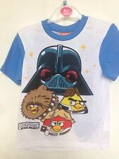 BNWT Angry Birds /Star Wars Boys Pj's/ Sleepware. T-Shirt&Shorts. Age 6-13 Years