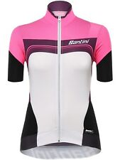 Santini Pink 2017 Queen Of The Mountain Womens Short Sleeved Cycling Jersey