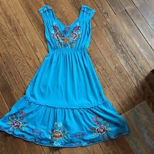NWT, JWLA By Johnny Was, Turquoise Dress, Sizes Small, Medium & Large