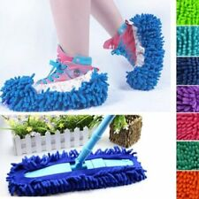 2Pcs Mop Slipper Bathroom Floor Dust Cleaning Polishing Cover Cleaner Foot Shoe^