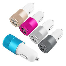 Car Charger Adaptor Bullet Dual Mini USB 2-Port for Apple iPhone 7 S 6 Samsung S