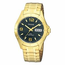 Pulsar  Mens Analog Watch Casual Gold Band PXN174 PXT656 PXT682