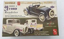 VINTAGE AMT 1929 MODEL A FORD ROADSTER / ALA KART DOUBLE CUSTOMIZING MODEL KIT
