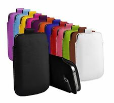"""Pull Tab PU Leather Pouch Case Sleeve For HTC Desire 626G (5"""")"""