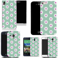 art case cover for many Mobile phones -  blue inviting daisy silicone