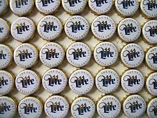 100 MILLER LITE BEER BOTTLE CAPS (WHITE ) NO DENTS NICE CONDITION
