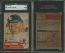 1953 Topps Baseball 168/274 cards set/lot Mickey Mantle #82 SGC High #s Ford @@