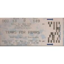 TEARS FOR FEARS Wembley, 07 March 1990 TICKET UK 1990 Used Ticket For Concert
