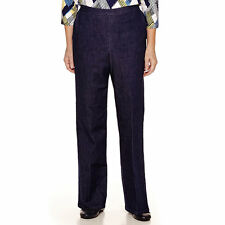 Alfred Dunner Womens Denim Pants Sierra Madre Pull On size 6P NEW