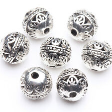 10/20Pcs 8mm DIY Tibetan Silver Plated Round Loose Spacer Beads Jewelry Findings