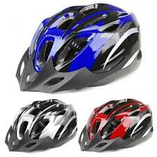 Mens Adult MTB Bike Bicycle Road Cycling 18 Holes Safety Helmet With Visor W}5W}
