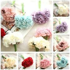 6 Heads Carnations Artificial Silk Flower Wedding Flowers Bouquet Floral Decor