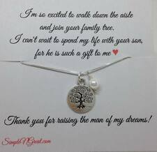 Mother of the Bride Groom Necklace,Wedding Jewelry Gift, Family Tree Necklace