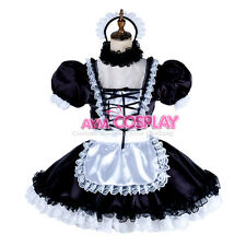 lockable Sissy satin maid dress cosplay TV/CD Tailor-Made [G1998]