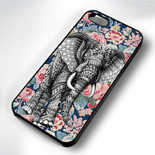 AZTEC ELEPHANT CUTE FLORAL RUBBER PHONE CASE COVER FITS IPHONE 4 5 6 7 (#BR)