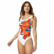 Butterfly By Matthew Williamson Womens White Side Detail Tummy Control Swimsuit