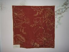 """Lee Jofa, Mulberry Home """"Hutton Linen""""  embroidered fabric remnant various clrs"""