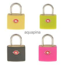 TSA Metal Padlock Travel Luggage Suitcase Bag Security Lock with 2 Keys, 4 Color