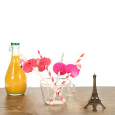 50pcs/set Paper Straws with Flamingo Decorated for  Wedding