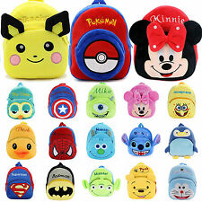 Baby Kids Girls Boys Cartoon Animal Plush Backpack Shoulder School Bag Rucksack