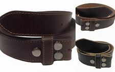 "Vintage Distressd Genuine Leather Snap on Belt Strap Distressed  1-1/2"" NC57G"