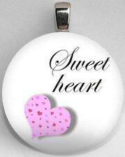Handmade Interchangeable Magnetic Hearts and Love Sweetheart #9 Pendant Necklace