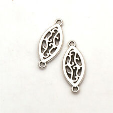 Hollow Oval Tibetan Silver Jewelry Finding Connectors New Alloy