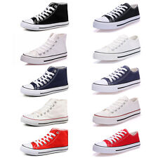 Women's Lady Canvas Shoes Casual Outdoor Sports Low High Top Running Sneakers