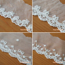 Scallop Edging Embroidery Lace Trim Floral Bow Eyelet Lolita Fashion Sewing
