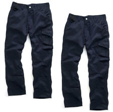Scruffs WORKER TWIN PACK Navy Multi Pocket Work Trousers (All Sizes) Mens Trade