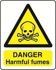 DANGER HARMFUL FUMES - health and safety warning Sign - WARN159 sticker