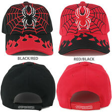 Kids Size Web and Spider Flame Adjustable Baseball Cap - FREE SHIPPING