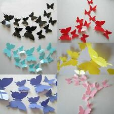 12pcs 3D Butterfly Wall Stickers Art DIY Room Bedroom Decor Chic Ornament Paper