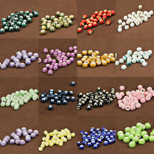 Flower Pattern Round Craft Ceramic Porcelain Loose Spacer Beads Charms 6mm Dia.