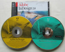 Adobe InDesign 2 UPGRADE For Mac with Serial Number - VG 2 Discs CS2
