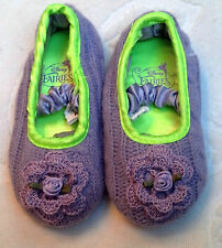 NEW LAVENDER KNIT SLIPPERS SHOES w/ ROSE SIZES 5 6 7 8 9 10 11 12 GIRLS TODDLER