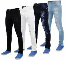 Mens G-72 Zip Fly Stretch Skinny Slim Fit Ripped Denim Jeans Cotton Trousers