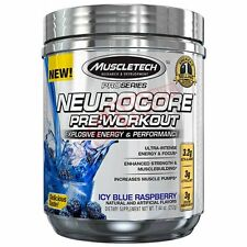 Muscletech NEUROCORE PRE-WORKOUT 50Serves - Fruit Punch Or Icy Blue Raspberry