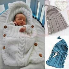 Baby Hand Knitted Newborn Baby Infant Sleeping Bag Knit Cocoon Pod Sleeping Bag