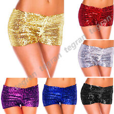 Women Sexy Sequin Casual Night Elastic Pants Dance Bottoming Hot Shorts Clubwear