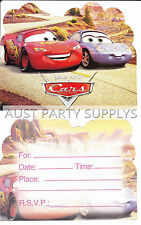 PK OF 12 CARS LIGHTNING MCQUEEN INVITATIONS INVITES KIDS BIRTHDAY PARTY SUPPLIES