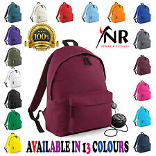 Backpack Mens Womens Girls Boys Plain Backpack Bag School College Rucksack Gym
