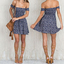 High Waist New Small Floral Casual Strapless Mini Dress Vintage Print Pleated