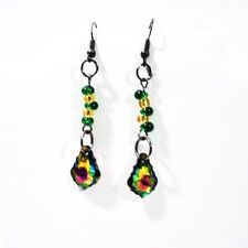 Unique And Elegant Green Swarovski Crystal Women's Dangle Earrings