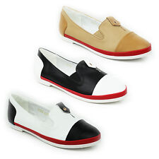 WOMENS LADIES CASUAL SLIP ON BALLERINA PUMPS MOCCASINS LOAFERS SHOES SIZE 3-8