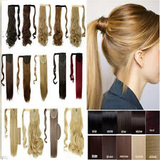 mega long Clip In Hair Extension wrap around clip on ponytail hair real thick US